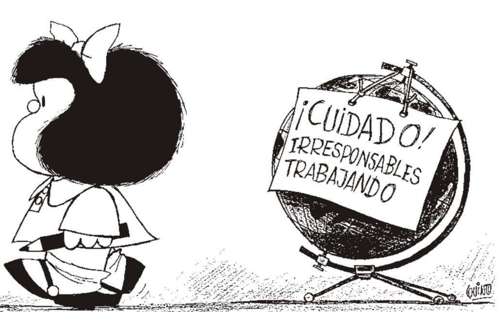 Mafalda, Quino. Fuente: Actitudfem.com