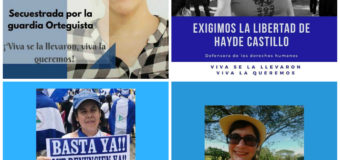 Defensoras reprimidas y encarceladas en Nicaragua